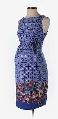 NWT A Pea in the Pod Casual Dress Size S (Maternity), Blue, Sleeveless