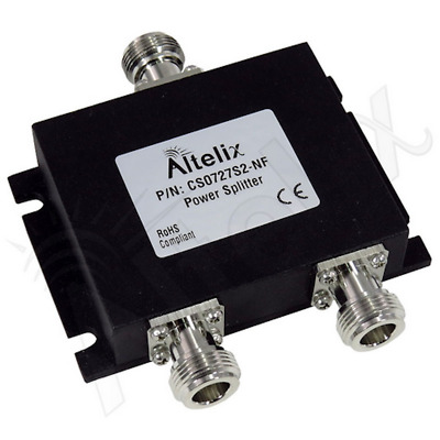 Altelix Wideband 2 Way Signal Splitter for 50 Ohm Cellular Boosters 2G 3G 4G LTE