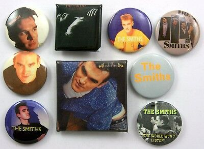 THE SMITHS AND MORRISSEY BADGES 9 x The Smiths Pin Badges