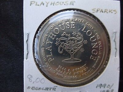 Playhouse Lounge Sparks Nevada $1 Route Token Dated 1990