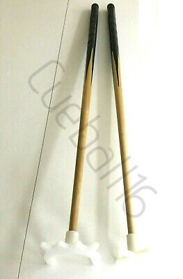 cueball16 2 x 57 2 Piece Pool//Snooker Cues with CHROME CROSS /& SPIDER//Bridge Rests