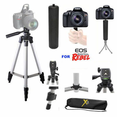"50"" Pro Tripod + Sports Stabilizing  Grip For Canon Eos Rebel T3 T3I T4 T5 T6"