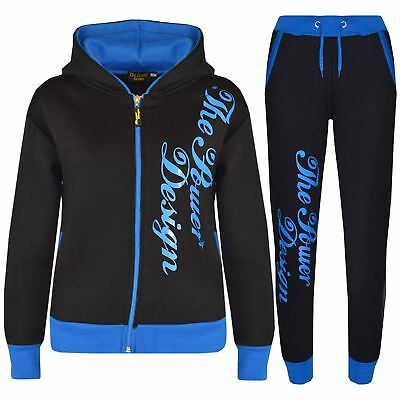 Kids Tracksuit Designer's Girls Boys The Power Design Top & Bottom Jogging Suit