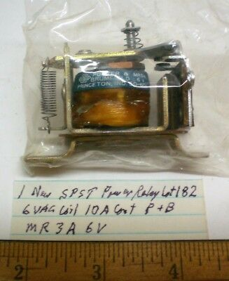 1 New Power Relay SPST 6 VAC Coil, 10 A Cont. Potter&B #MR3A6, Lot 182, USA