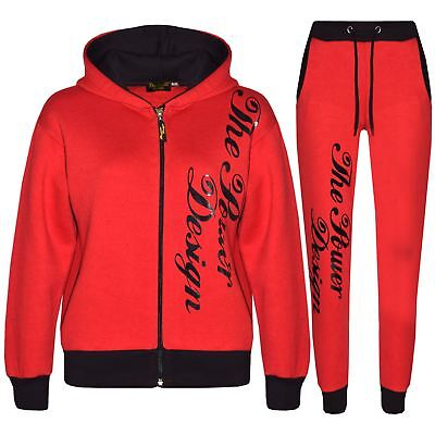 Kids Tracksuit Boys Girls Designer's The Power Design Top & Bottom Jogging Suits