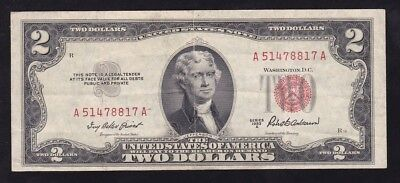 Usa ------ 2  Dollars  1953 -------- F /vf-------