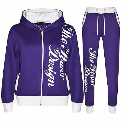Kids Tracksuit Boys Girls Designer's The Power Design Top & Bottom Jogging Suit