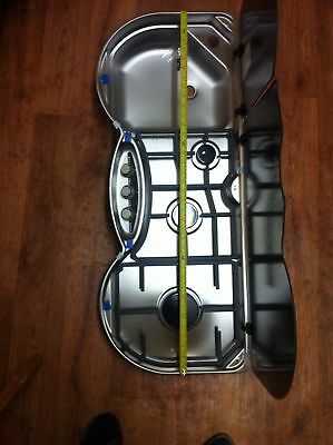 Caravan 3 Burner Gas Cooker Hobs And Sink Campervan New No Box