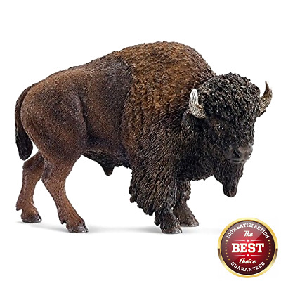 Schleich Highly Detailed Hand Painted American Bison Buffalo Toy Animal Figure
