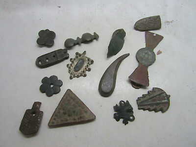 Large Collection Of Ancient Roman-Medieval, Strap Ends, Mounts