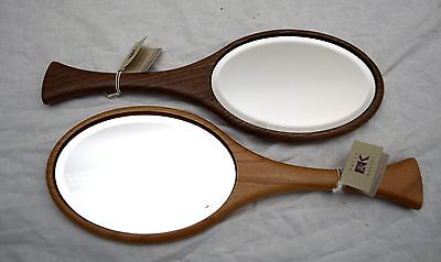Made-in-the-USA Walnut or Cherry Hand Mirror Crafted by Davin and Kesler