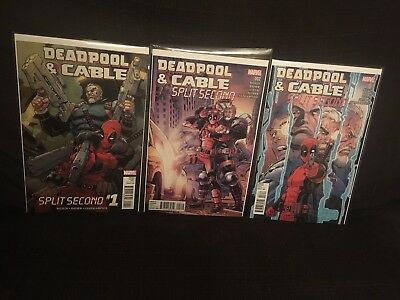 Deadpool And Cable Split Second Issues 1 2 3 Complete Set 1st Prints NM