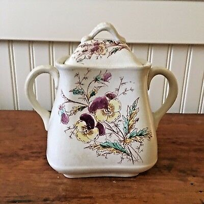 Pretty ironstone sugar bowl by The Wick China Co