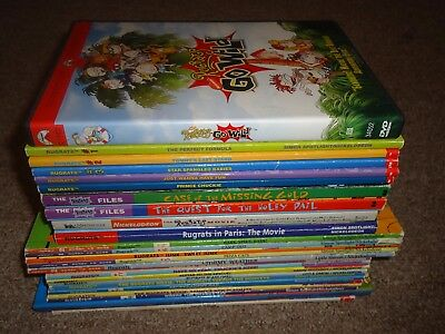 Lot 26 Nickelodeon Rugrats 25 Books 1 DVD Chapter Files Ready-to-Read Go Wild