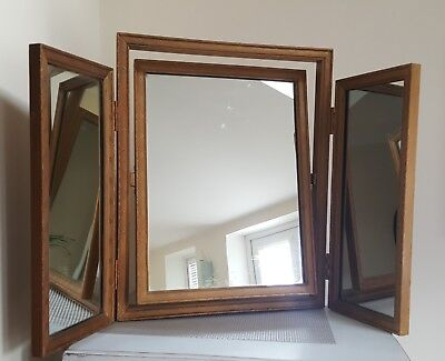 Vintage 3 Way Tilting Folding Dressing Table Mirror 1930/40's