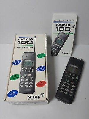 Nokia 100AU Vintage Retro Analog Personal Cell Phone - with User's Manual & Box