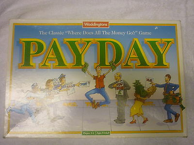 Payday Board Game By Waddingtons 100% Complete & In Nice Condition. PAY DAY