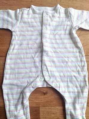 Mothercare Striped Baby Girls Babygrow Sleepsuit Romper Newborn Combine Post