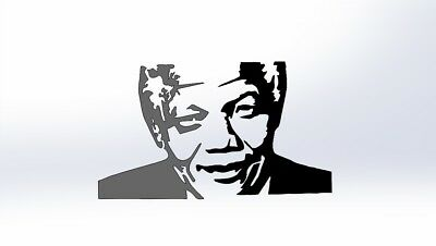 DXF CDR File For CNC Plasma Laser Cut - Nelson Mandela