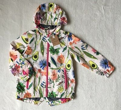 ***BNWT Next girls Bright print rain coat jacket 4-5 years***