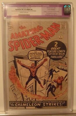 Amazing Spiderman #1 First Spiderman- Fantastic Four Appearance. CGC 6.0