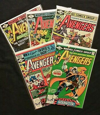 Avengers Lot of 5 #185, #188, #195, #196, Annual #10- all 1st appearances