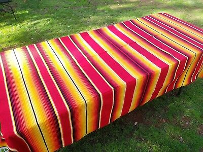 Mexican Blanket Serape Red and Yellow, Southwestern Beach Yoga