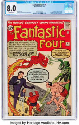 1962 * FANTASTIC FOUR #6 * Marvel Comics * CGC 8.0 VF * Rare Off WHITE Pages !!!