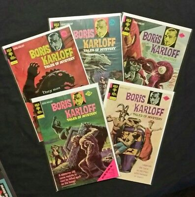 Gold Key Boris Karloff comics Lot of 5