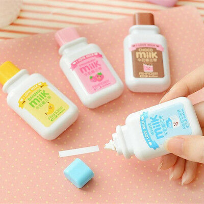 Milk Bottle Roller White Out School Office Study Stationery Correction Tape HI
