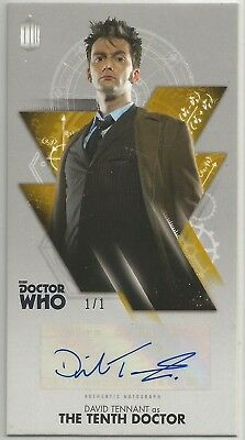 DAVID TENNANT GOLD 1/1 TOPPS DR. WHO THE TENTH DOCTOR ADVENTURES autograph card