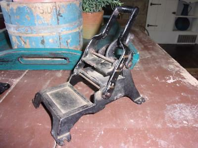 RARE Antique CAST IRON Printing Press - Old Store Pharmacy Business Cards