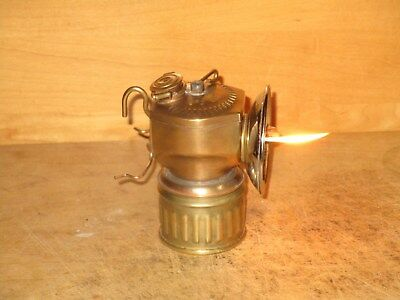 Miners JUSTRITE CARBIDE LAMP - WORKING - EXCELLENT!!