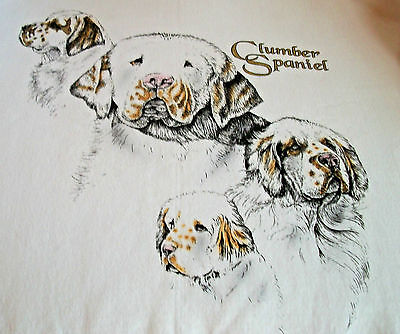 "Clumber Spaniel T-shirt  "" White "" 2XL ( 50 ~ 52 )"