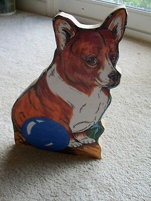 Pembroke Welsh Corgi Shelf Sitter Wooden~Unique Corgi Item!