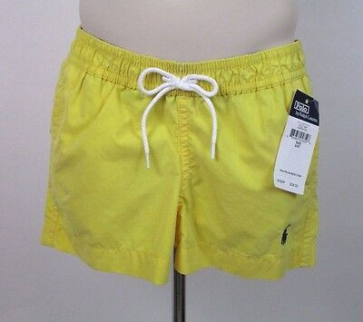 Nwt~Polo Ralph Lauren~Boy's~Bathing Suit/bathing Trunks~Yellow~ 2 T~ Tag $39.50