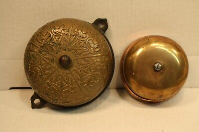 Vintage 1879 Antique Victorian Doorbell Door Bell Brass Bronze Sargent Cast Iron