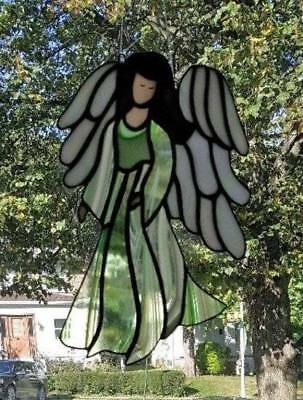 **HEAVENLY ANGEL** Stained Glass Window Hanging