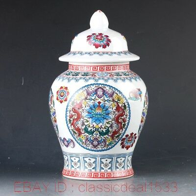 Chinese Porcelain Hand-Painted Dragon & Bat Pot PA0813
