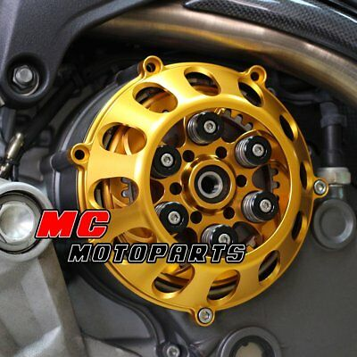For Ducati Billet Clutch Cover Gold For 748 749 999 1098 1198 S R 918 CC27