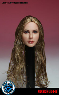 "SUPER DUCK 1/6 SDH004B Planted Long Hair European Female Head Fit 12"" Figures"