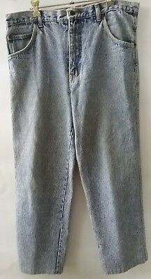 INTERNATIONAL Jeans by Basic Blues vintage mens size 87cm acid wash jeans retro