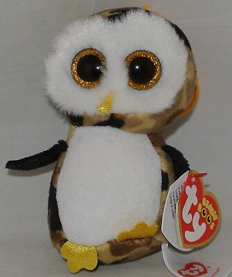 4d9e2d11ea2 Ty Beanie Boos OWLIVER the Camouflage Owl Key Clip Size Ships from USA!