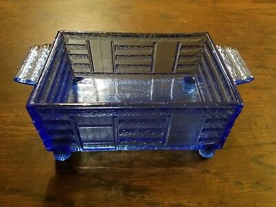 Lutted's S.P. Cough Drops Vintage Blue Glass Cabin Bottom
