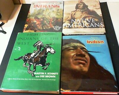 4 big Hardcover Coffee Table Books on Native North American Indians Some Vintage