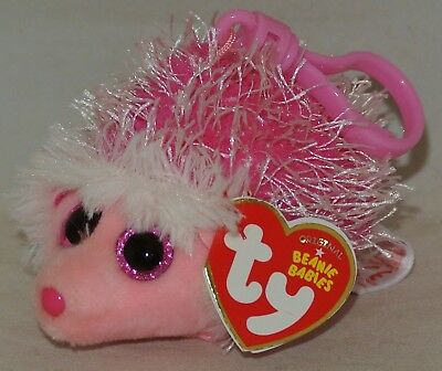 f0dfb0953b9 NEW! TY BEANIE Baby Mrs. Prickly the Hedgehog Key Clip Size Ships ...