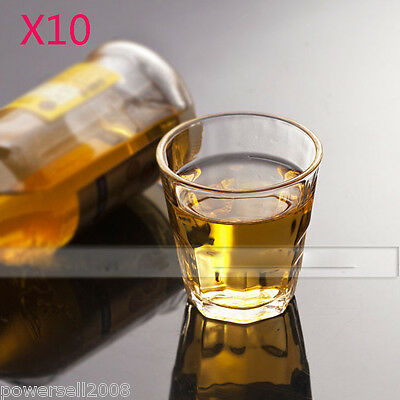10X 170ML Contracted Lead-Free Crystal Glass Teacup Wine Glass Juice Cup NN