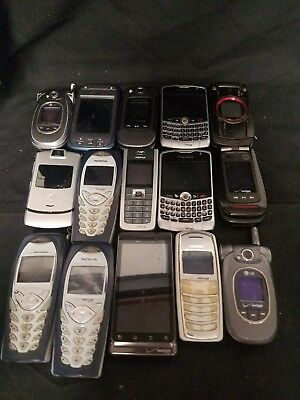 "Lot Of 15 Cell Phones ""For Parts"""