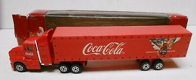 Great Looking Coca-Cola Light Up Christmas Truck-Uk - Adm Promotions-In Box