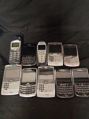 "Lot Of 10 Cell Phones ""For Parts"""